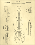 Guitar Patent on Parchment Report Template