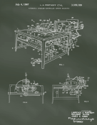 Sewing Machine Patent on Chalkboard Report Template
