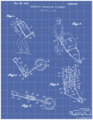 Trundling Backpack Patent on Blueprint Report Template