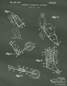 Trundling Backpack Patent on Chalkboard Report Template