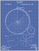 Velocipede Patent on Blueprint Report Template